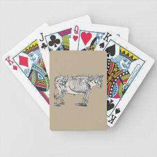 Esqueleto de la vaca del vintage cartas de juego