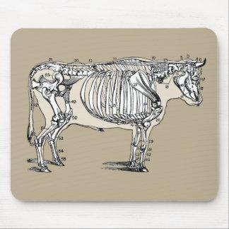 Esqueleto de la vaca del vintage alfombrillas de ratones