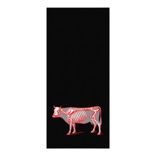 Esqueleto de la vaca plantilla de lona