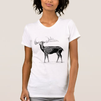 Esqueleto de los ciervos camiseta