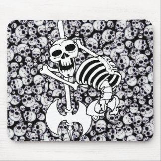 Esqueleto de metales pesados alfombrillas de raton