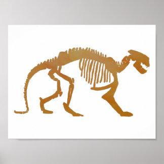 Esqueleto de Patriofelis Póster