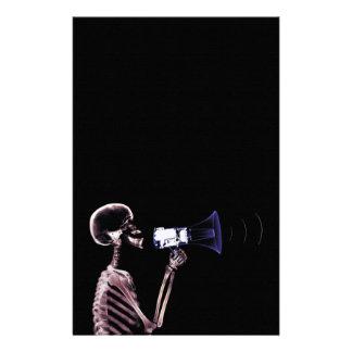 ESQUELETO DE VISION DE LA RADIOGRAFÍA EN EL MEGÁFO PAPELERIA DE DISEÑO