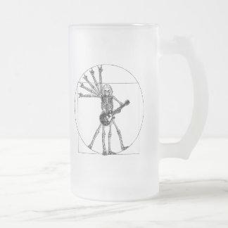 Esqueleto de Vitruvian Jarra De Cerveza Esmerilada