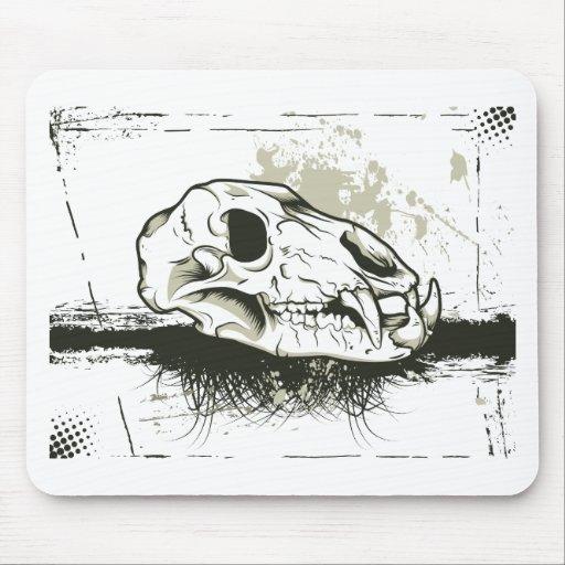 Esqueleto del animal de los cráneos del ~ del crán tapetes de ratones