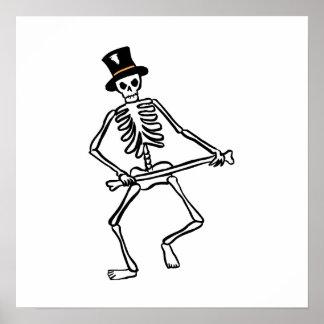 Esqueleto del baile impresiones