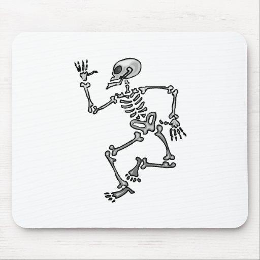Esqueleto del baile tapete de raton