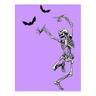 Esqueleto del baile tarjeta postal