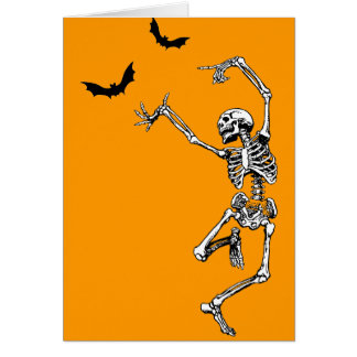 Esqueleto del baile tarjetas