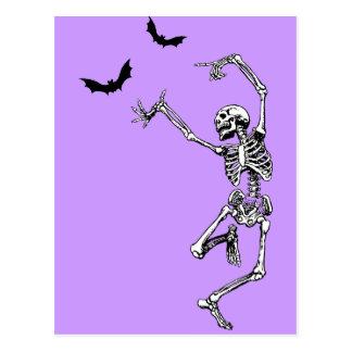 Esqueleto del baile tarjetas postales