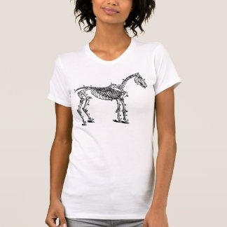 esqueleto del caballo camiseta