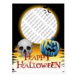 Esqueleto del capítulo de la foto de Halloween y l Tarjeta Postal