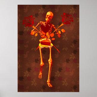 Esqueleto del día de fiesta poster