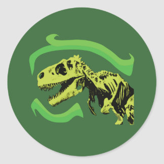 Esqueleto del dinosaurio de T-Rex Pegatina Redonda