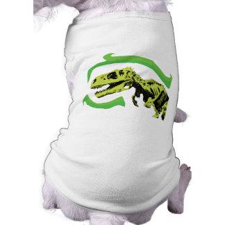 Esqueleto del dinosaurio de T-Rex Playera Sin Mangas Para Perro