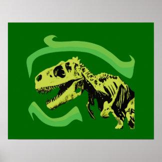 Esqueleto del dinosaurio de T-Rex Impresiones