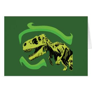Esqueleto del dinosaurio de T-Rex Tarjetas