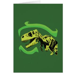 Esqueleto del dinosaurio de T-Rex Felicitación