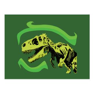 Esqueleto del dinosaurio de T-Rex Postal