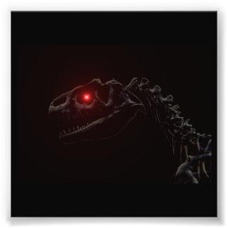 Esqueleto del dinosaurio del zombi de los Undead Cojinete