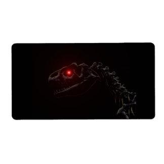 Esqueleto del dinosaurio del zombi de los Undead Etiquetas De Envío
