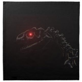 Esqueleto del dinosaurio del zombi de los Undead Servilleta De Papel