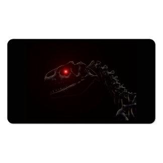 Esqueleto del dinosaurio del zombi de los Undead Tarjetas De Visita