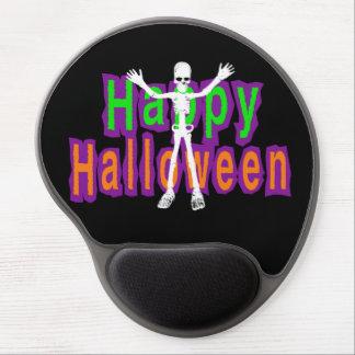 Esqueleto del feliz Halloween Alfombrilla Con Gel