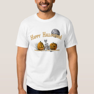 Esqueleto del feliz Halloween Camisas