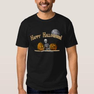 Esqueleto del feliz Halloween Playeras