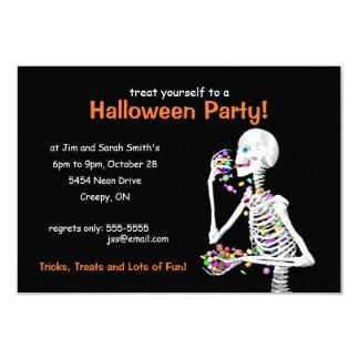 Esqueleto del fiesta de Halloween Invitación 8,9 X 12,7 Cm
