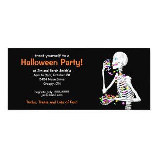 Esqueleto del fiesta de Halloween Invitación 10,1 X 23,5 Cm