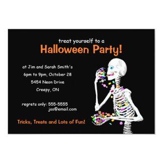 Esqueleto del fiesta de Halloween Invitación 12,7 X 17,8 Cm