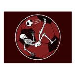 Esqueleto del fútbol tarjetas postales