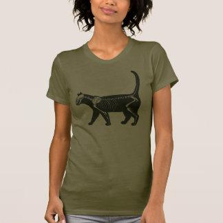 esqueleto del gato camisetas