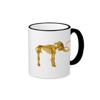 Esqueleto del mamut del oro taza de dos colores