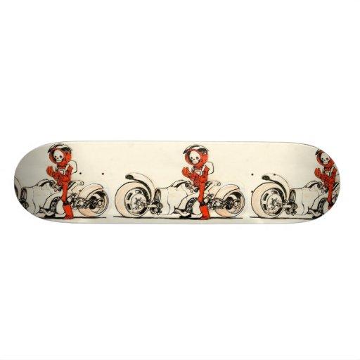 Esqueleto del motorista skate board