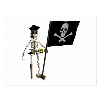 Esqueleto del pirata postales