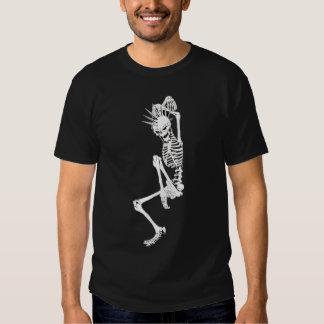 esqueleto del punk rock remera