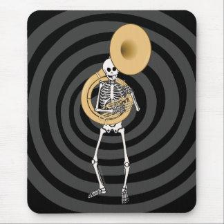 Esqueleto del Sousaphone Alfombrilla De Ratones