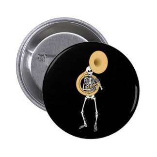Esqueleto del Sousaphone Pin Redondo De 2 Pulgadas
