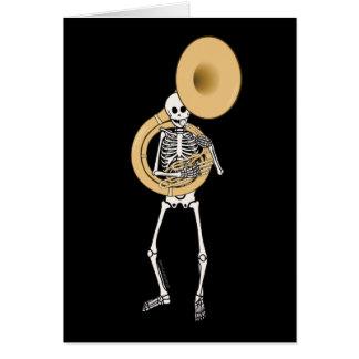 Esqueleto del Sousaphone Tarjeta De Felicitación