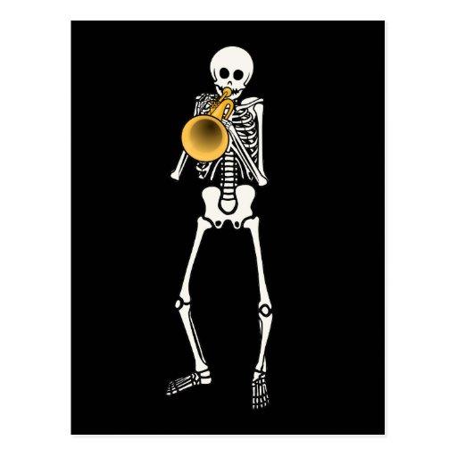 Esqueleto del trompetista postales