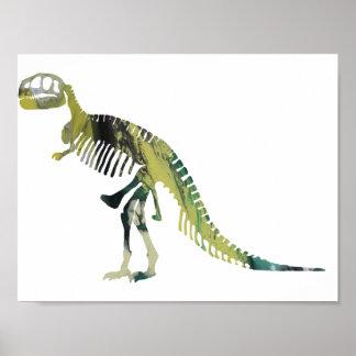 Esqueleto del Tyrannosaurus Póster