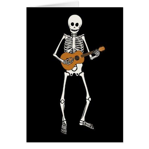 Esqueleto del Ukulele Felicitación