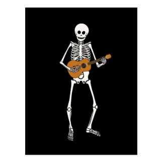 Esqueleto del Ukulele Tarjetas Postales
