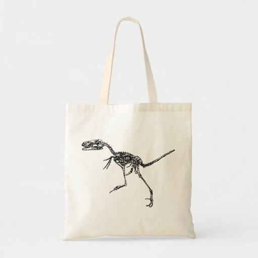 Esqueleto del Velociraptor Bolsas De Mano