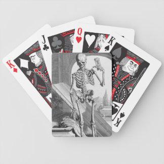 Esqueleto del vintage baraja