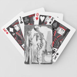 Esqueleto del vintage baraja de cartas