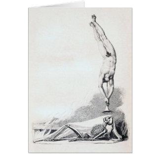 Esqueleto del vintage que es llamado tarjeta de felicitación